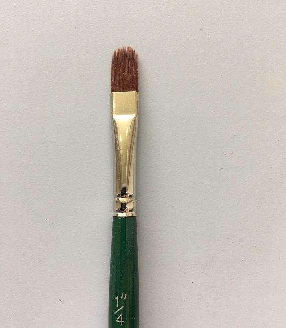 Ruby Satin Filbert Comb
